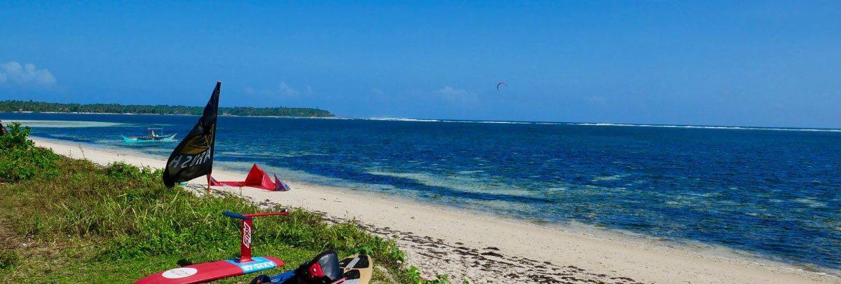Siargao Kite spot Lagoon and waves reef