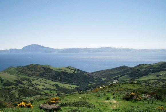 Vue sur le détroit de Gibraltar et le Maroc