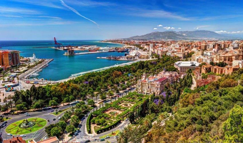 Malaga city in Andalusia