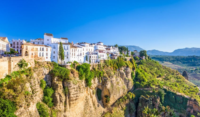 View of Ronda village Andalusia