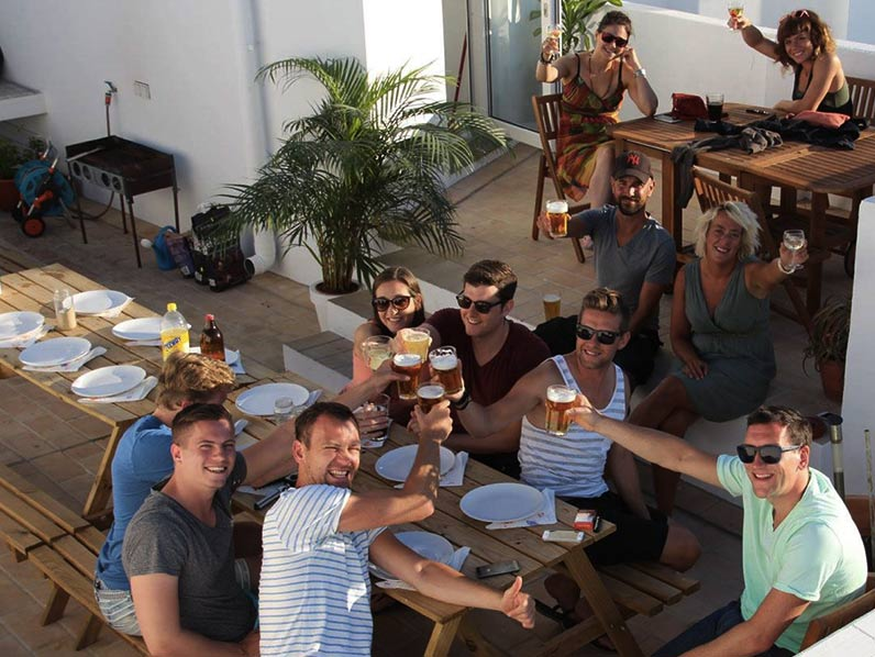 group dinner kite hostel Tarifa