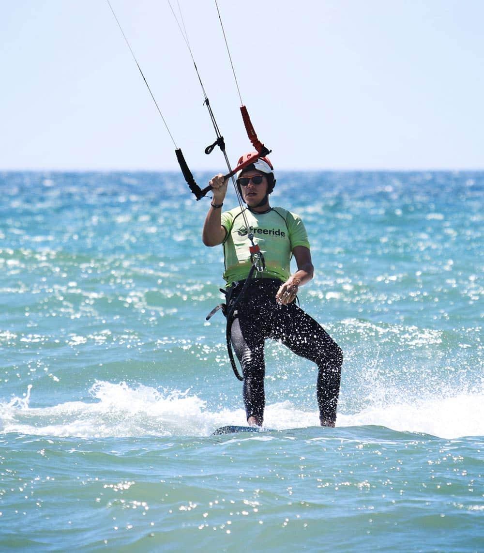 Learning transition in kitesurfing