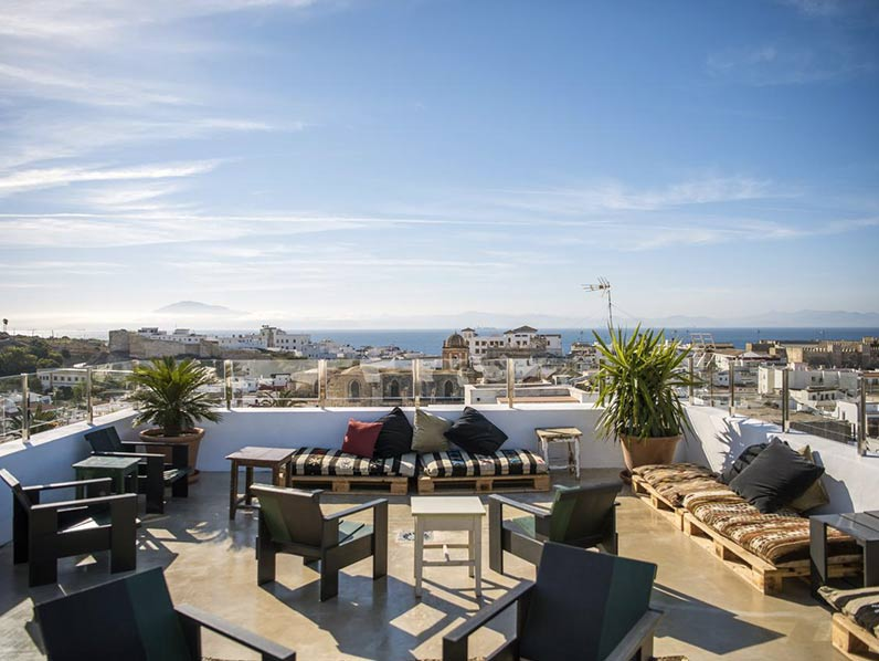 Hotel with rooftop in Tarifa