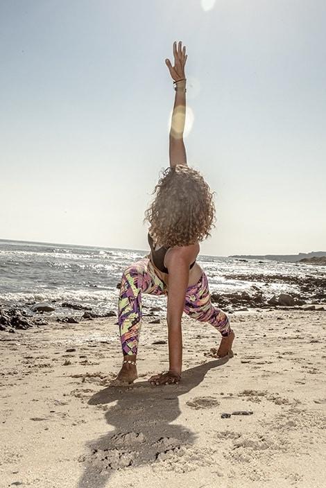 High Lunge Twist Yoga pose