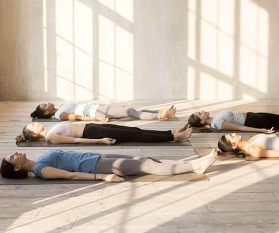 Savasana pose in Yoga