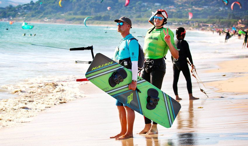 Tarifa for its proximity and attractive prices in kitesurfing lessons