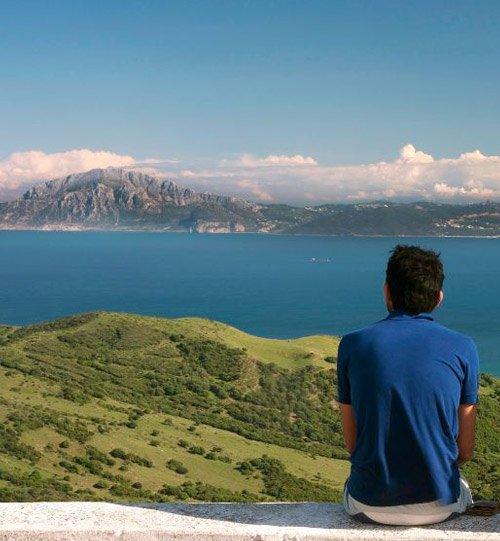 Point de vue sur le détroit de Gibraltar